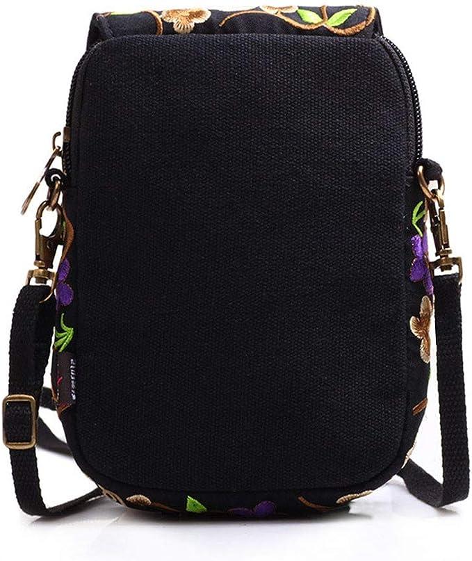 Amazon Com Women Vintage Embroidered Canvas Shoulder Bag Totes