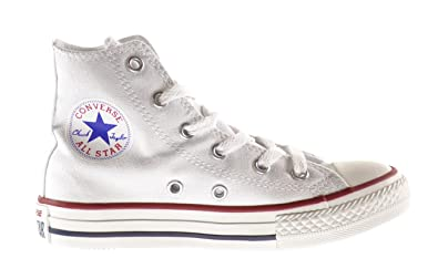 converse shoes all white. converse all star hi optical white youth/kids shoes boys/girls sneakers (10.5