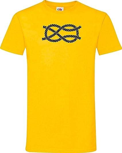 Shirtinstyle Hombre Camiseta Navegar Nudos de Cruz Nudo Marinero Muchos Colores, TAMAÑO S-XXXL: Amazon.es: Ropa y accesorios
