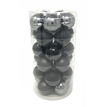 Christbaumkugeln glas antrazit