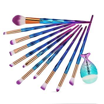 f52361299d57 Amazon.com : Makeup Brush Kit For Beginner Huphoon 12PCS Rainbow ...