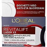 L'Oréal Paris Revitalift Laser X3 Dischetti Viso Anti-Età Antirughe Peeling con Acido Glicolico, Esfolianti e Illuminanti