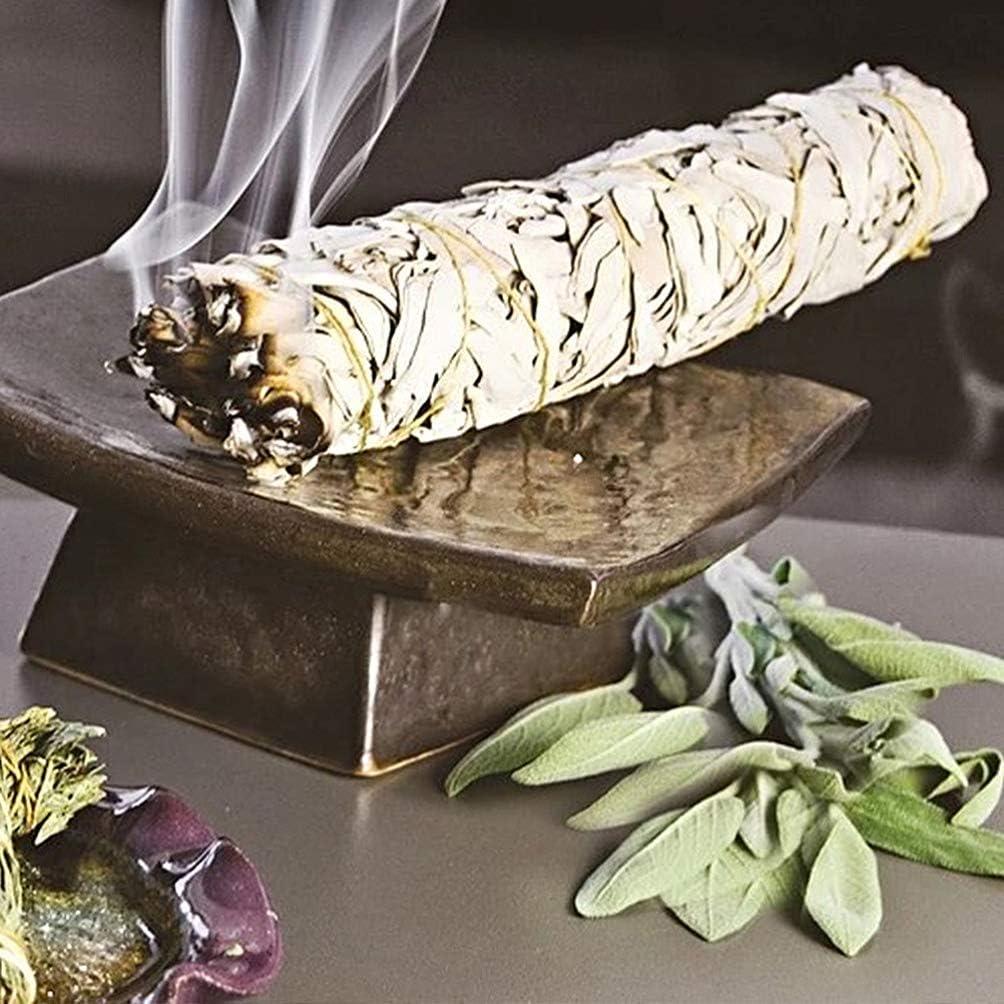 VOSAREA 2pcs de Salvia Blanca de California Americana Paquete de Salvia purificación ahumada de Hojas puras palitos de Salvia Blanca para Quemar manchar y Limpiar (2pcs 130 g)