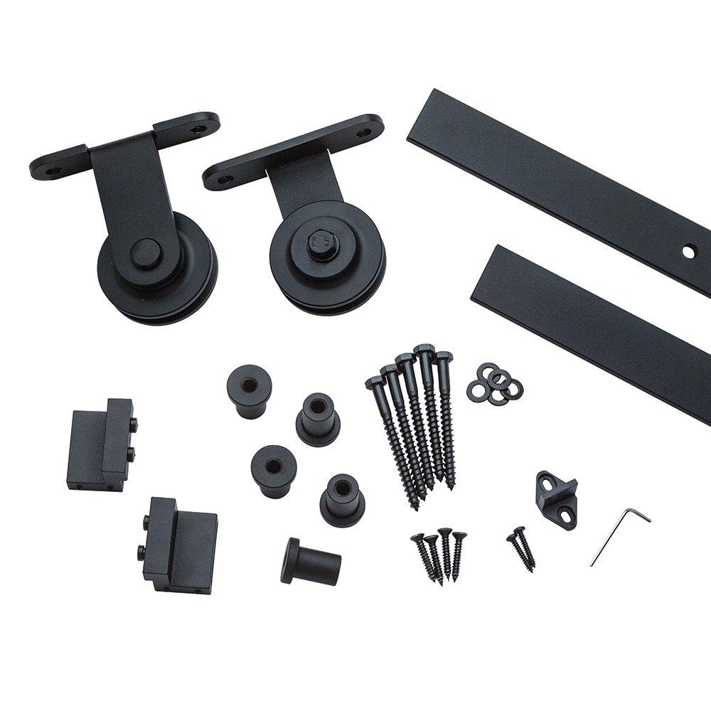 I-Semble Rolling Door Hardware Kit, Top Mount, Black