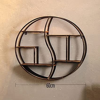 Nordic Wrought Iron Decorative Frame, Wall Hanging Circular Shelf, Living  Room Dining Room Solid