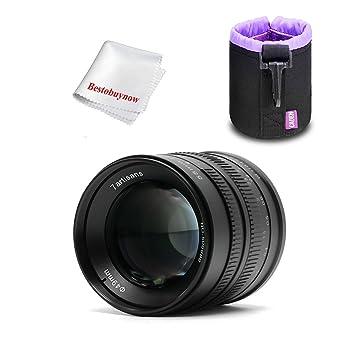 7 Artesanos 55 mm F1.4 Gran Apeture Lente para Sony E-Mount ...