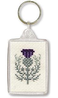 Amazon.com: Textil Heritage Llavero – Kit de punto de cruz ...