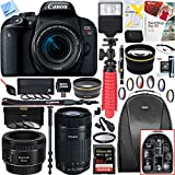 Canon EOS Rebel T7i Digital SLR Camera 1894C002 with EF-S 18-55mm IS STM + 64GB (EF-S 55-250mm Telephoto + EF 50mm STM) Triple Lens Exclusive Bundle