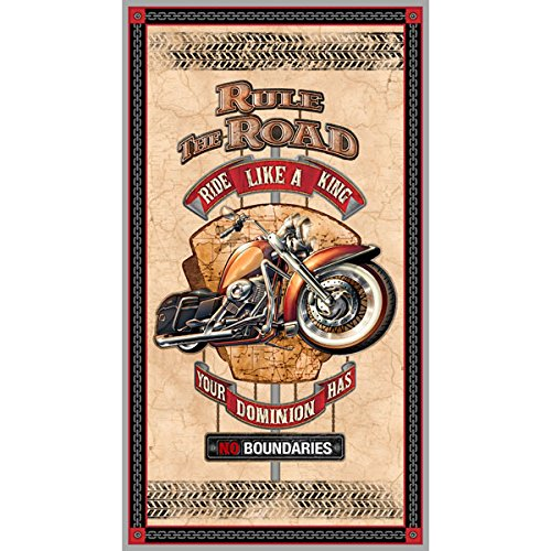 Rule The Road Motorcycle 24 Inch Wide Panel Quilting Treasures