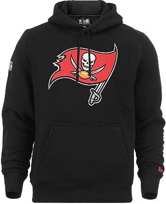 Sudadera con capucha, con logo del equipo NFL Tampa Bay Buccaneers de New Era, en negro: Amazon.es: Ropa y accesorios