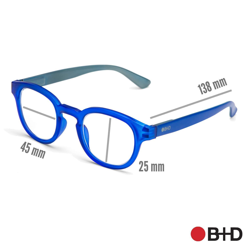 B+D Blue Ban Reader Matt Tortoise 2.00 Eyeglasses 2280-88-20