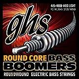 GHS Strings RC-ML3045 Round Core Bass Boomers, 4-Set, Medium Light Gauge (37.25'' winding)