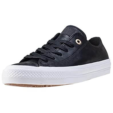 21344b274a0873 Converse Chuck Taylor All Star Ii Ox Womens Trainers Black White - 3 UK