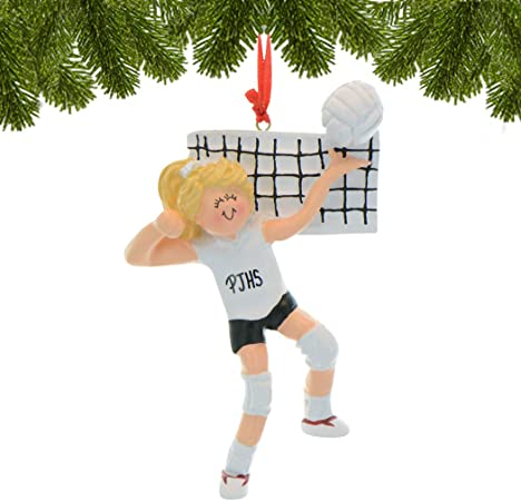 Volleyball Girl Personalized Christmas Tree Ornament X-mass NEW