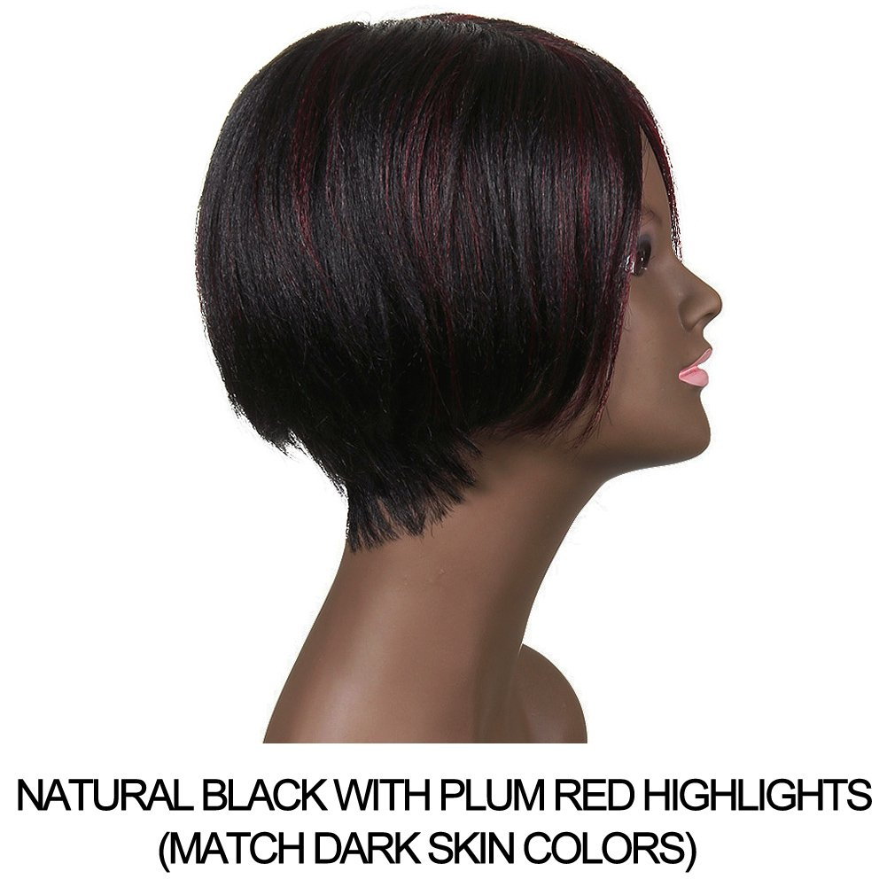 Amazon Sleek 6 Short Bob Wigs For Black Women With Side Bangs