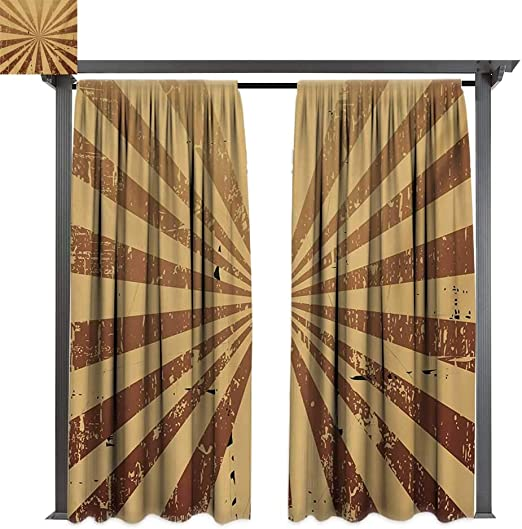 Bybyhome - Cortinas de porche, diseño de rayas, color tostado ...