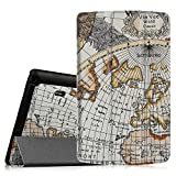 Fintie LG G Pad X8.3 (4G LTE Verizon Wireless VK815) Smart Shell Case - Ultra Slim Cover with Auto Sleep/Wake [Only For Verizon Wireless Model VK815] LG G Pad X 8.3-Inch 4G LTE Tablet, Map White