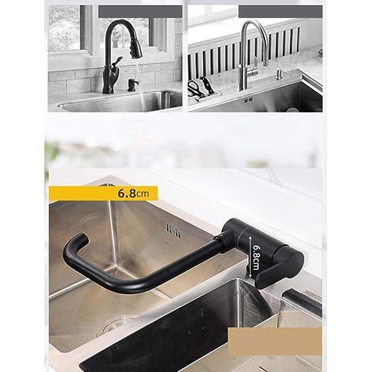 Grifo de fregadero de cocina con ventana interior plegable negro ...