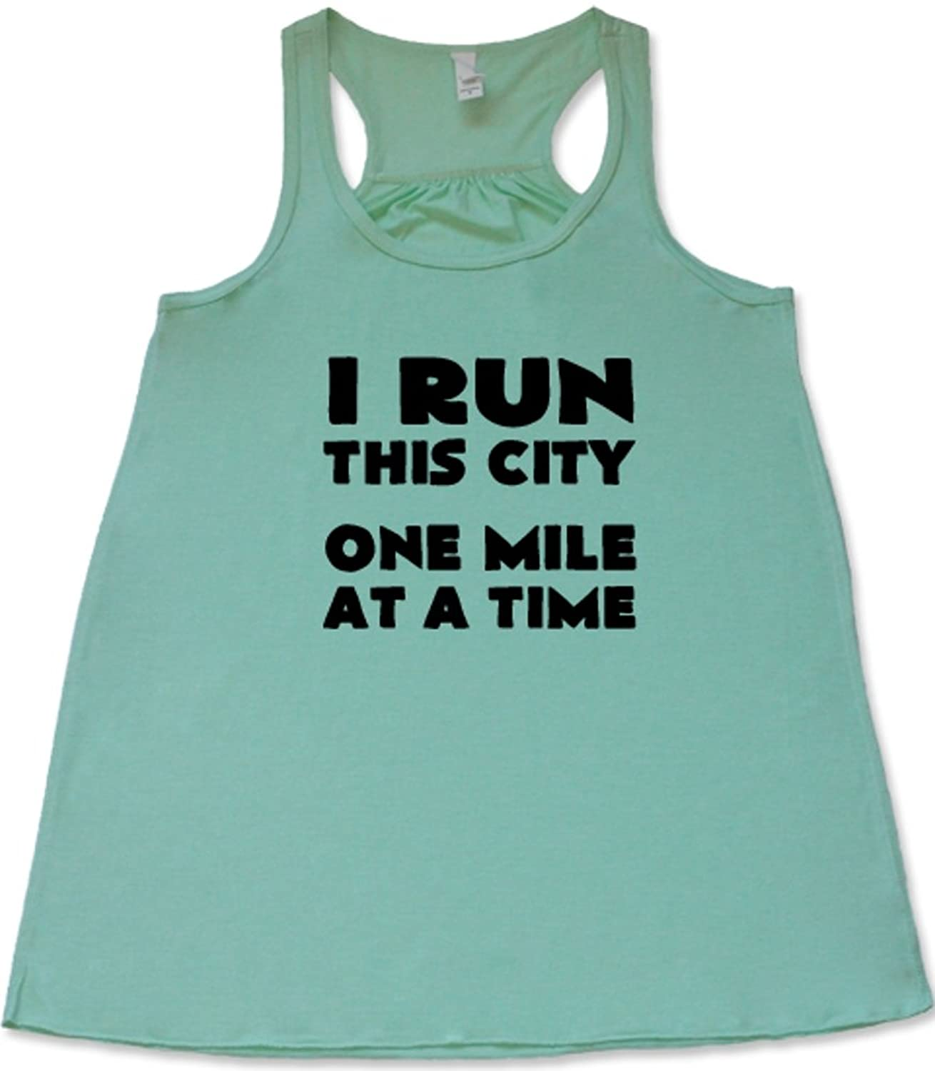 Constantly Varied Women's I Run This City One Mile At A Time Tank Top