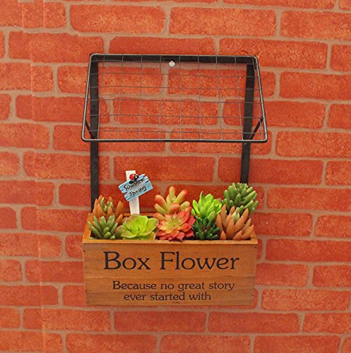 Decorative wooden hanging flower pots planter for for Decorative hanging pots