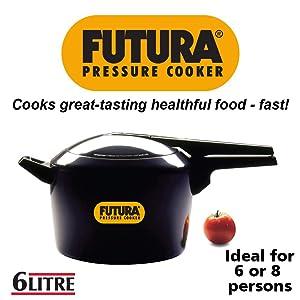 Hawkins Futura O60 Pressure Cookware, 6 L, Silver