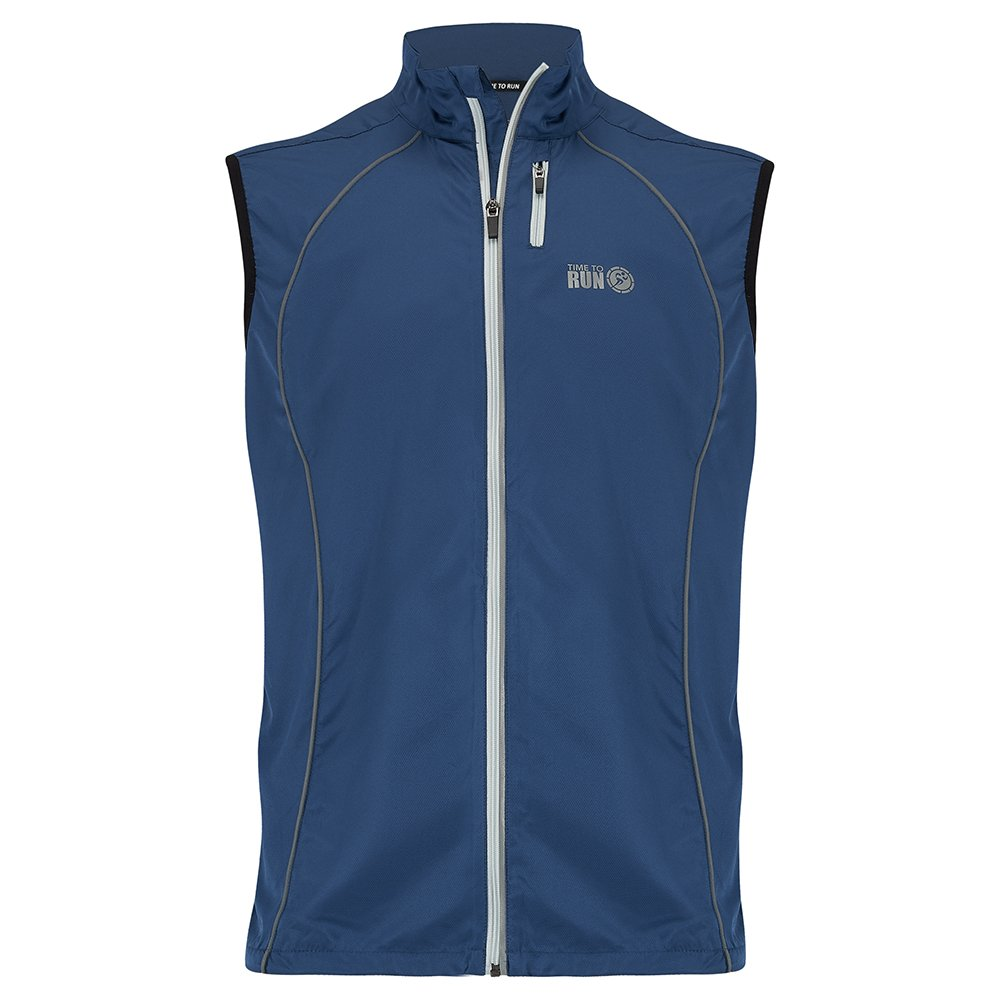 Time to Run Windproof Course à Pied Coupe-Vent Gilet Pour Hommes