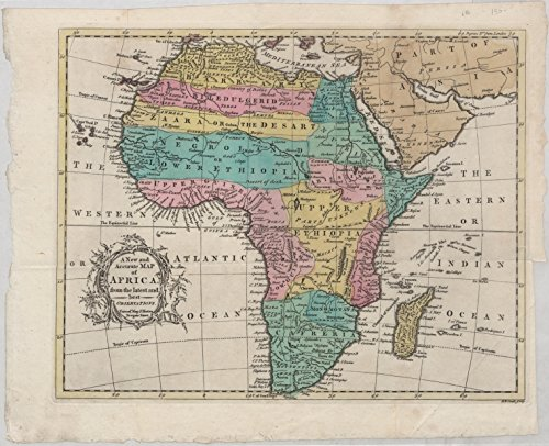 Historic 1747 Map | A new and accurate map of Africa, from the latest and best observations | (Accurate Map)