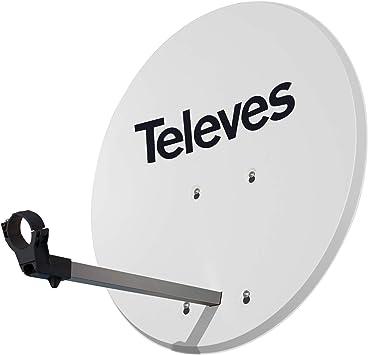 Antena parabólica de Tipo Offset 630 de Aluminio en Color Blanca