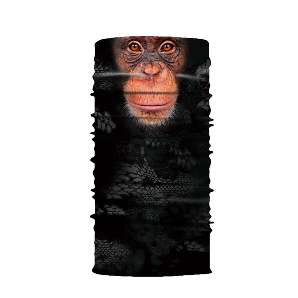 Aesy Deportes Cara M/áscara Al Aire Libre 3D Animal Tigre Impreso R/ápido Seco Quitasol Sweatband Banda para el Cabello Cabeza Bufanda Bufanda de Ciclismo