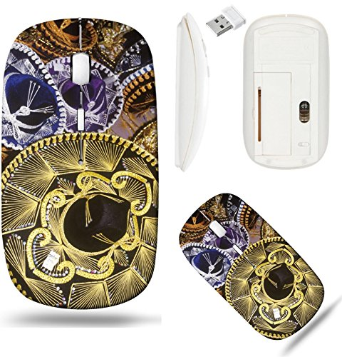 Liili Wireless Mouse White Base Travel 2.4G Wireless Mice with USB Receiver, Click with 1000 DPI for notebook, pc, laptop, computer, mac book Sombreros stacked for sale in Nuevo Progreso Mexico along ()
