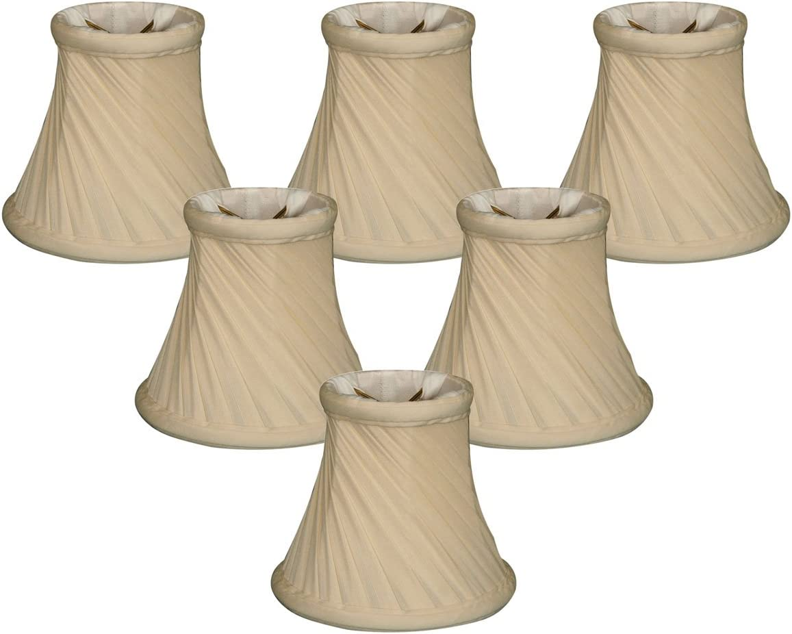 Royal Designs 5 Twisted Bell Chandelier Lamp Shade, Eggshell, Set of 6, 3 x 5 x 4.5 CS-716EG-6