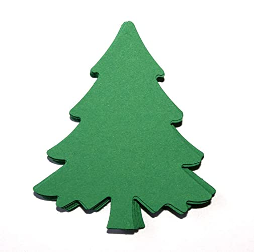 christmas tree die cuts green paper christmas tree cutouts 25 count