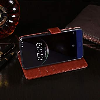 Amazon.com: Doogee Mix Case, PU Leather Stand Wallet Flip ...