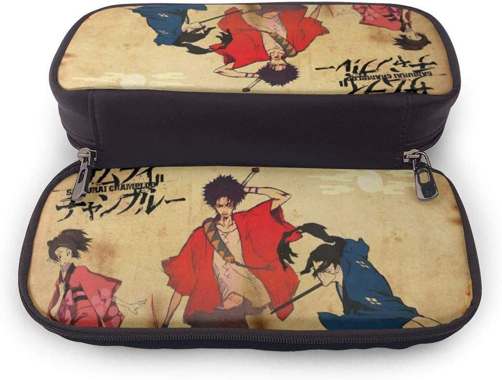 Estuche Big Capacity High Capacity Pluma Pencil Lápiz Organizador de caja de bolsaPractical Bag Holder with Zipper - Anime Samurai Champloo Style: Amazon.es: Oficina y papelería