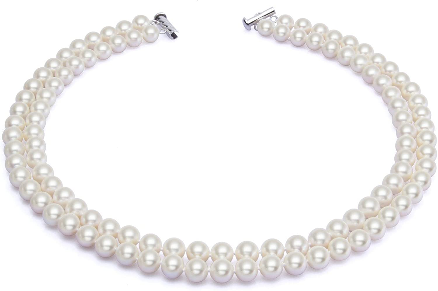 8mm White Akoya Cultured Shell Pearl Necklace Earrings Set 18/'/' AAA