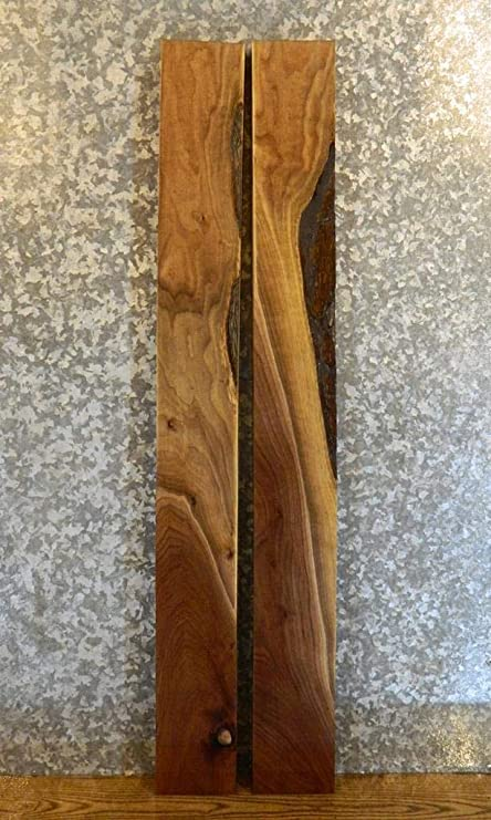 2- Clear Black Walnut Billet Wood/Rustic Lumber Boards