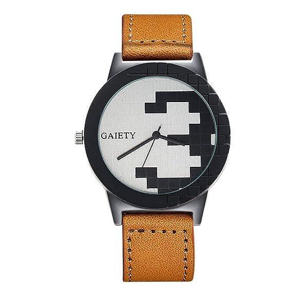 Reloj, poto 2017 nueva lujo hombres del cuero y acero inoxidable Analog Cuarzo Relojes Moda: Amazon.es: Relojes