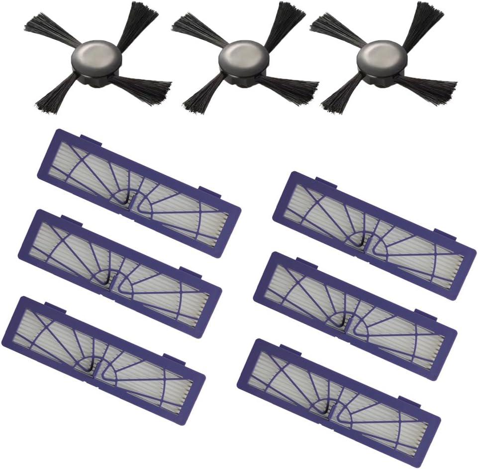 ECOMAID Filters Accessories for Neato Botvac Robotics 70e 75 80 85 & D Series D75 D80 D85 & Connected D3 D5 Vacuum Cleaner Replacement Parts