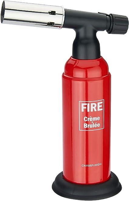 CHAMP HIGH - Linterna de cocina profesional - Quemador de cocina 18,5 cm - Llama regulable - Quemador de crema, Camping - Plásticos - roja