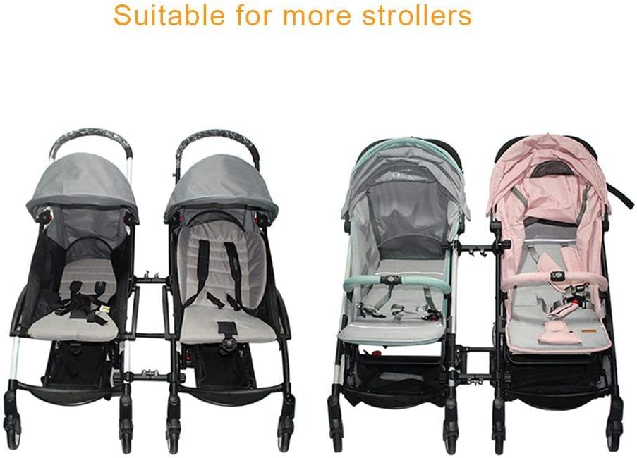 Sanmubo Stroller Connectors for Twins Adjustable Easy Installation Stroller Connector Turns Two Single Strollers into a Double Stroller