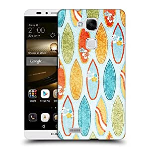 Super Galaxy Coque de Protection TPU Silicone Case pour // V00000406 El sombreado de color Tabla de Surf // Huawei Ascend Mate 7