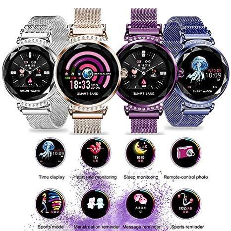 TYGJ H2 Smart Watch Women 3D Diamond Glass Heart Rate Blood ...
