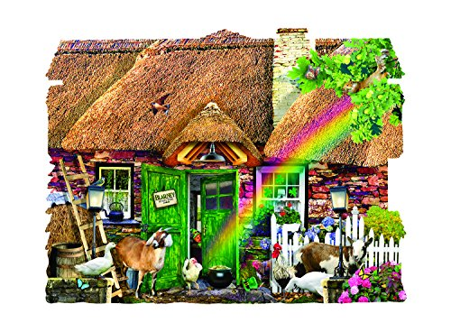 SunsOut Irish Cottage 1000 Piece Shaped Jigsaw Puzzle