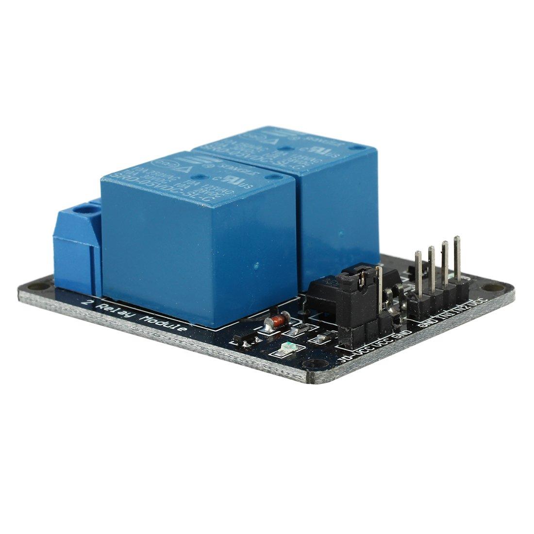 TOOGOO(R) 5V 2-Channel Relay Module Shield for Arduino ARM PIC AVR DSP Electronic