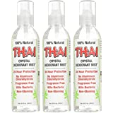 Thai Deodorant Stone Crystal Mist Natural Deodorant Spray 8 oz. Bundle (Pack Of 3)