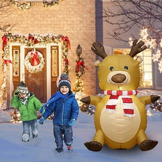 pegtopone Decoración de Navidad, Reno Hinchable, iluminación de ...