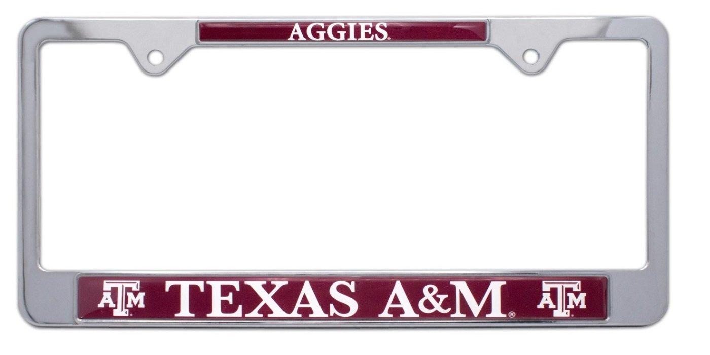 Texas A/&M All Metal NCAA TAMU Aggies Mascot License Plate Frame