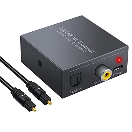 CAMWAY Digital Audio Converter Optical SPDIF Toslink to Coaxial and Coaxial to Optical SPDIF Toslink Bi