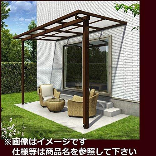 YKK ap サザンテラス フレームタイプ 関東間 1500N/m2 1間×6尺 熱線遮断ポリカ屋根  ショコラウォールナット/アースブルー(マット) B01E31W748 本体カラー:ショコラウォールナット/アースブルー(マット)