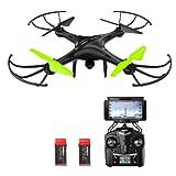 Potensic® Drone avec caméra, 2.4Ghz RC Drone RTF Hauteur-fixe pour Photographie aérienne UFO avec WiFi Camera
